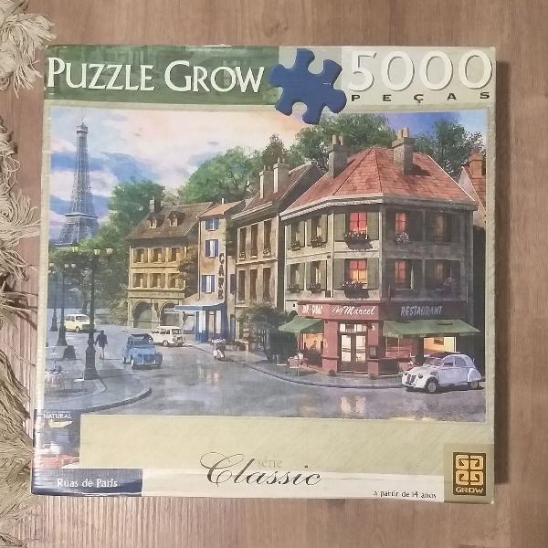 Puzzle 5000 peças ruas de paris