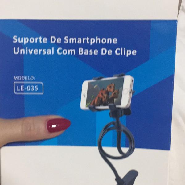 Suporte de celular com base de clipe