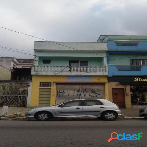 Terreno construido um salão e casa assobrada - avenida dos latinos
