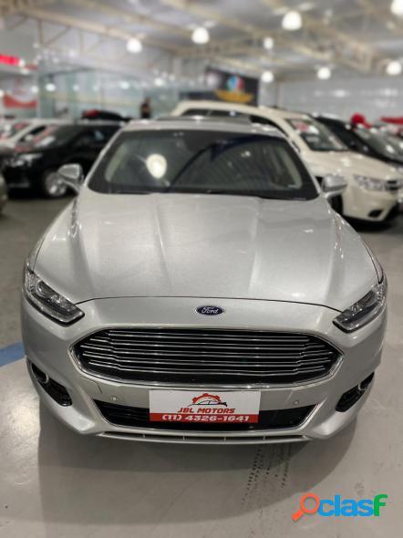 Ford fusion titanium hybrid 2.0 145cv aut. prata 2015 2.0 gasolina e eletrico