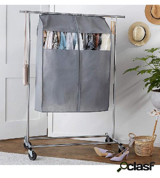 Roupa multifuncional capa zíper de armazenamento anti-poeira engrossado quarto doméstico organizador de roupas