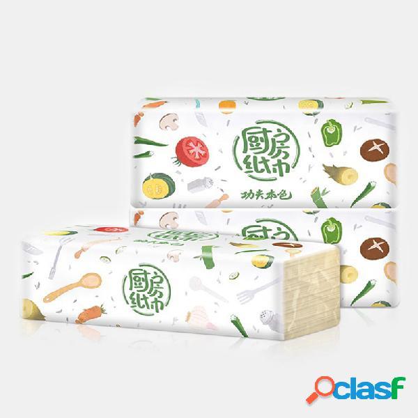 Papel multifuncional para cozinha papel absorvente de óleo absorvente toalha papel de extração de polpa de bambu
