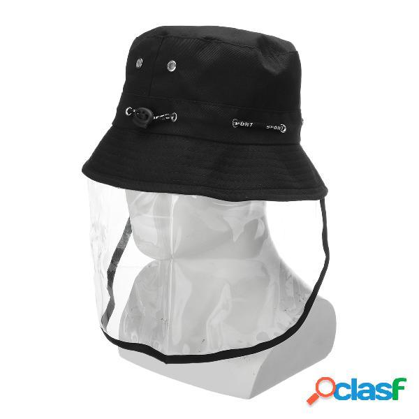Protetor anti-cuspir máscara chapéu tampão facial anti-nevoeiro anti-respingo de pescador