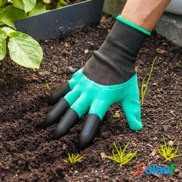 1 par luvas de segurança luvas de jardim borracha tpr thermo plastic builders work abs garras de plástico