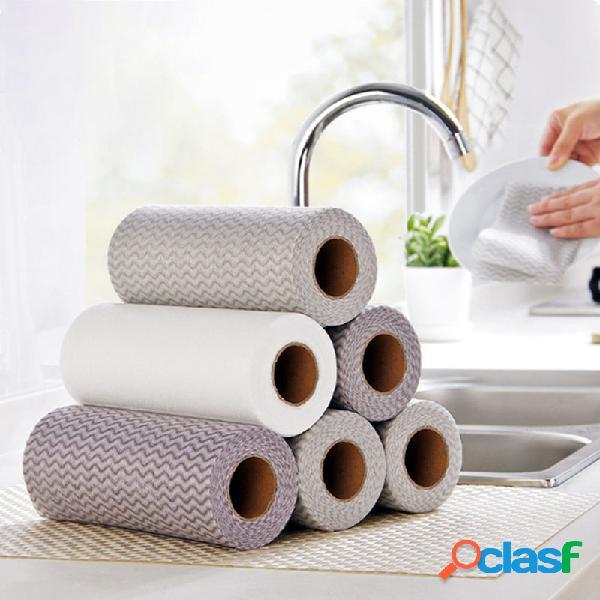 50 unidades / rolo one pano descartável para cozinha, pano de limpeza para trabalho doméstico