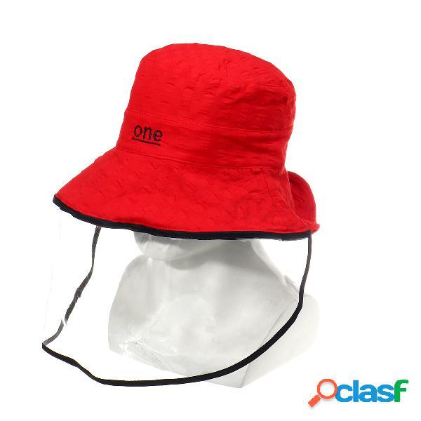 Fisherman cap bucket chapéu rosto anti-cuspir à prova de poeira chapéu sun wide brim cover face