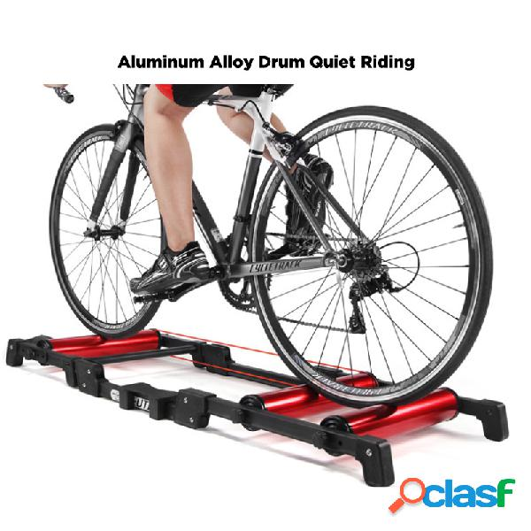 bicicleta trainer rollers indoor home exercício rodillo bicicleta cycling training aptidão bicicleta trainer mtb road bike rollers
