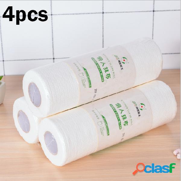 Toalhas de papel de cozinha de absorção de óleo de cozinha de dupla camada de 4 rolos