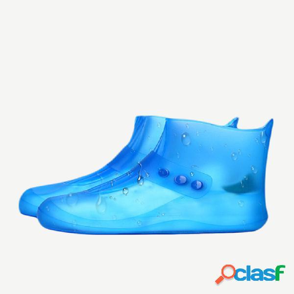 Unissex impermeável e reutilizável para botas ao ar livre capas cano alto antiderrapante proteção para pés