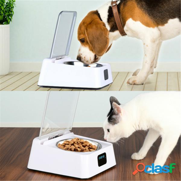 Cães de estimação alimentador automático de infravermelho sensor barreira automática de abertura de tigela tigela à prova de umidade