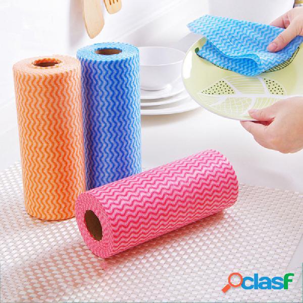 50 pcs / roll pano descartável para cozinha pano de limpeza doméstica