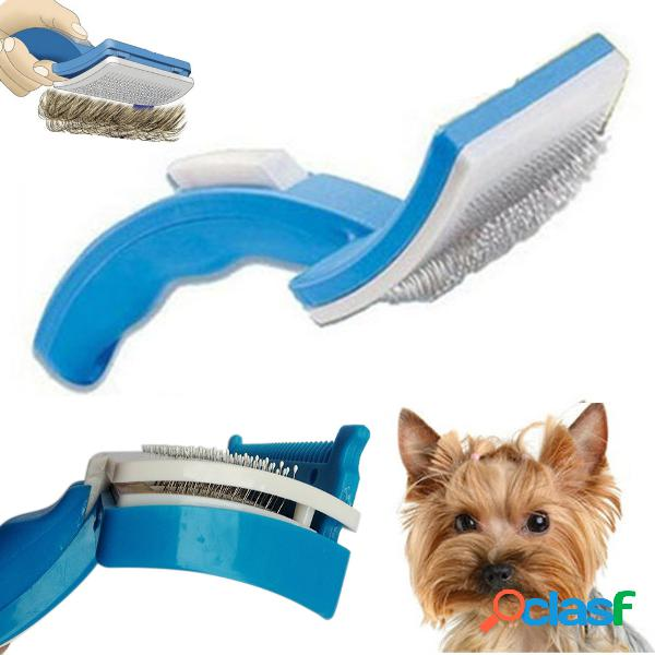 Pet cachorro cat grooming self cleaning pet escova pente cabelo aparador de pêlos ferramenta de derramamento