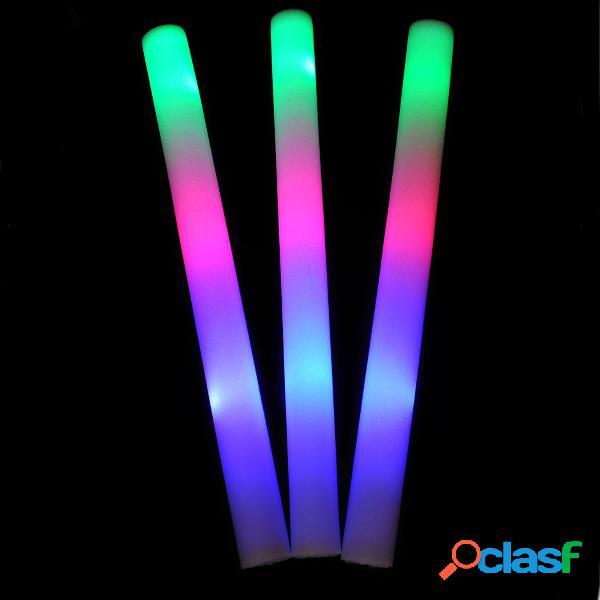 5 ~ 48 unidades iluminam bastões de espuma led varinhas rally rave bastões dj piscando vara brilhante
