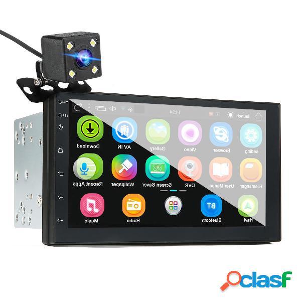 """Player de mp5 para carro de 7 """"para android 8.0 2.5d tela gps wifi fm com câmera traseira"""