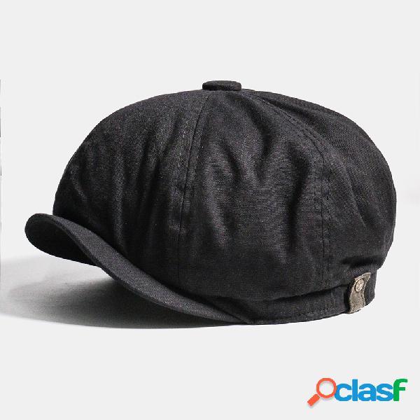 Boné de jornaleiro de algodão para homens cabbie lvy flat chapéu boina de pintor vintage chapéus