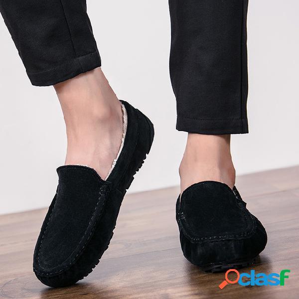 Sapatos masculinos de nova estação mais sapatos de algodão morno tendência masculina sapatas de ervilha de pessoas sapatos casuais masculinos