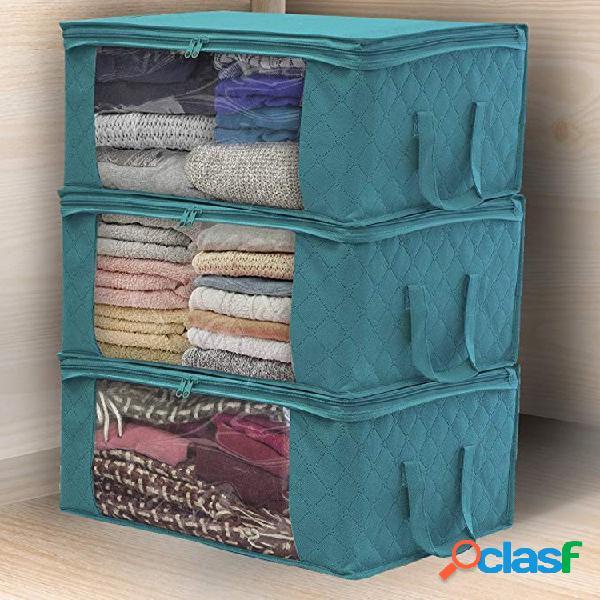 Colcha de roupas com proteção de espaço não tecido armazenamento bolsa caixa organizador portátil