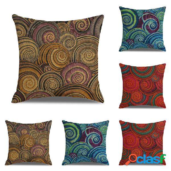 Elemento abstrato eddys impresso capa de almofada de linho decoração de sofá doméstico cadeira de carro para escritório fronha