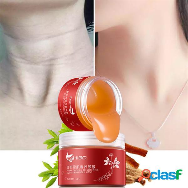 Membrana de pescoço ginseng vermelho levantamento endurecimento hidratante desaparecer linhas finas cuidados com o pescoço