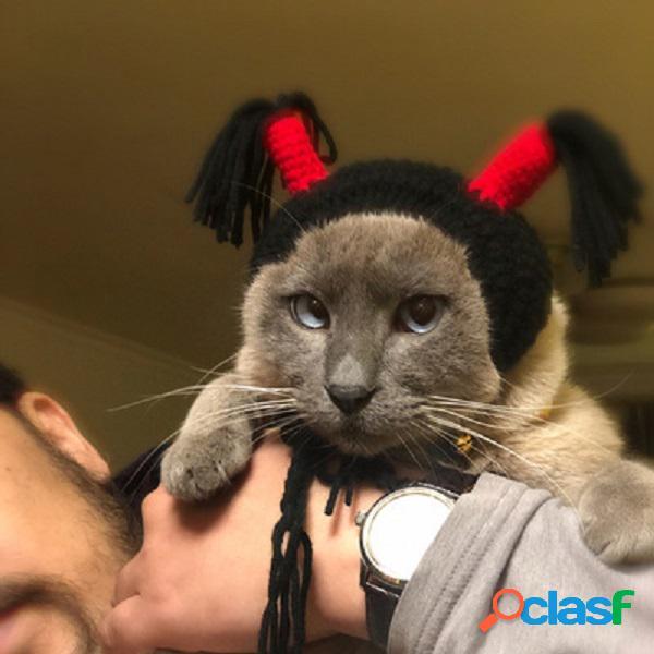 Pet headdress headband hooded chapéu cat cachorro funny what hood