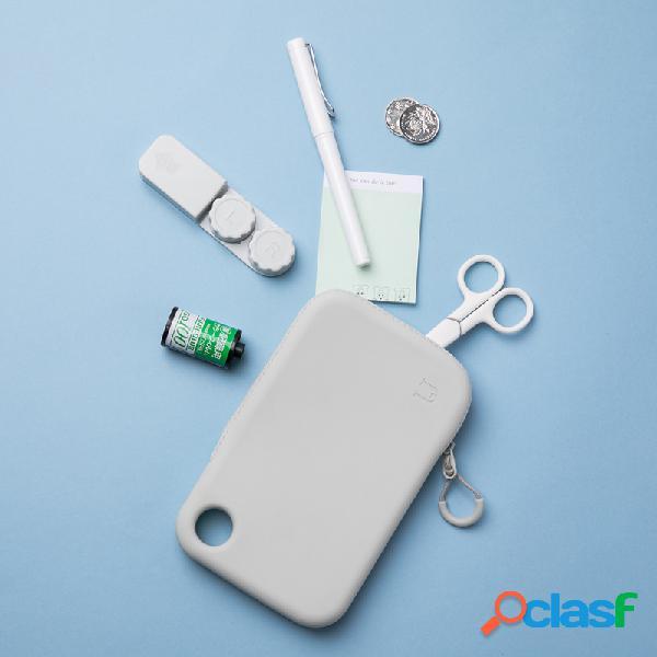 Silicone armazenamento bolsa carregador de cabos à prova d 'água chaves fones de ouvido organizador viagem ao ar livre