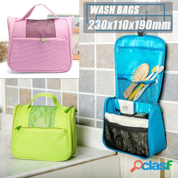 3 cores de viagem multi-função de lavagem bolsa portátil à prova d 'água oxford pano de armazenamento bolsa
