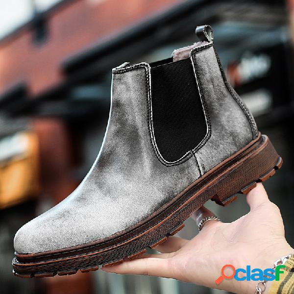 Classic botas chelsea para homem, estilo antiderrapante, para trabalho ao ar livre