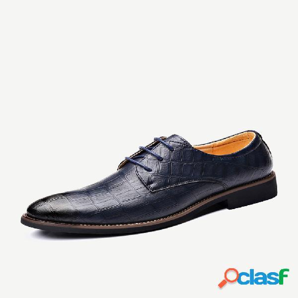 Sapatos formais casuais em microfibra de couro antiderrapante masculino
