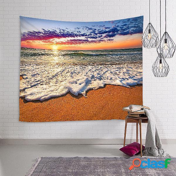 150 * 130 cm / 150 * 210 cm nascer do sol praia oceano estilo tapeçaria tapeçaria decoração de casa