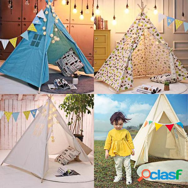 20 estrelas + tiny land indian cotton canvas kids tenda tenda wigwam playtent interno