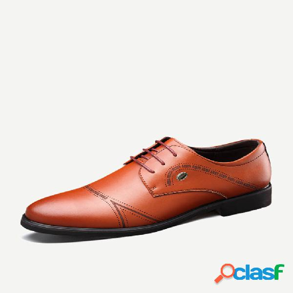 Sapatos formais empresariais de microfibra de couro antiderrapante masculino