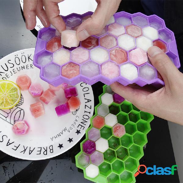 37 grid honeycomb silicone ice cube molde de gelo para máquina de gelo picado diy