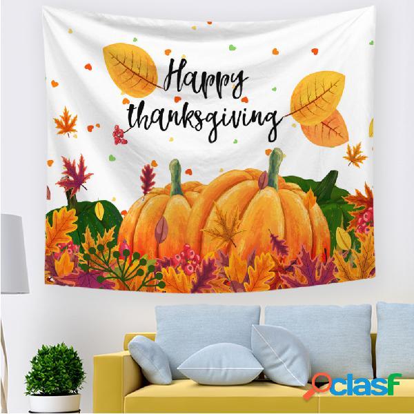 Dia de ação de graças feliz dia das bruxas desenho animado abóbora tapeçarias impressas em casa, quarto, sala de estar, decoração artística