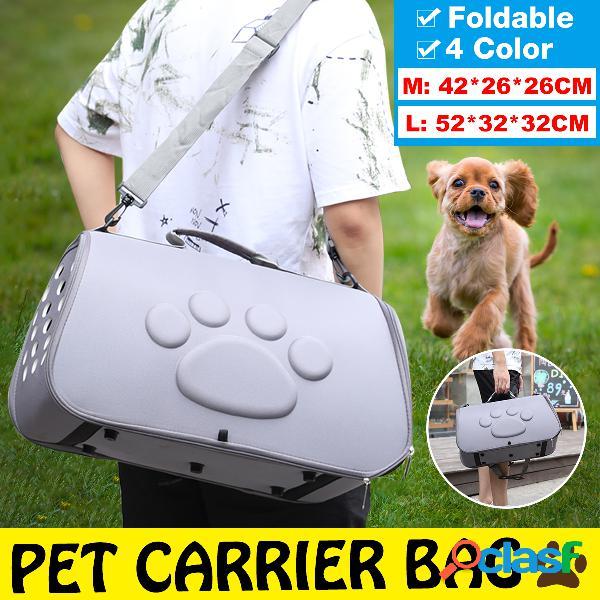 Espaço para suprimentos para animais de estimação cachorro bolsa eva pet out bolsa pet portátil diagonal e respirável bolsa