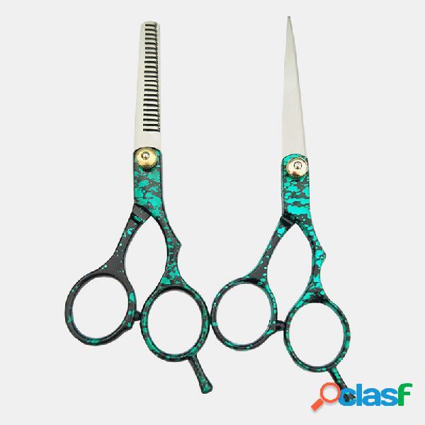 Tesoura de aço inoxidável cabelo corte de desbaste tesouras de barbeiro cabelo vestuário cabelo estilo