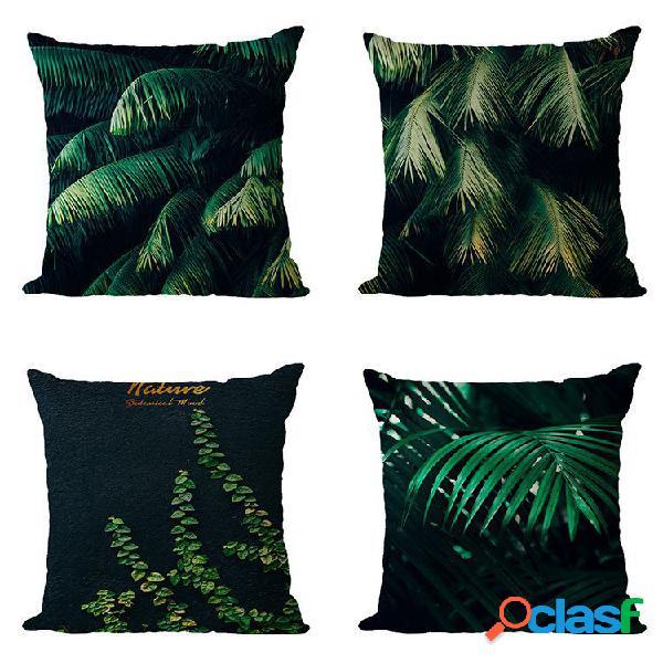 Tropical planta linho fronha almofada de carro de venda quente almofada do sofá de casa