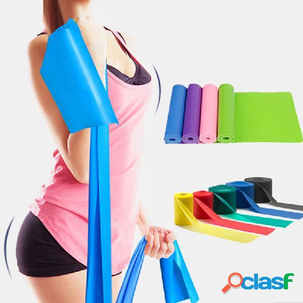 A resistência elástica une o elástico aptidão do elástico do exercício do estiramento do expansor força corda força