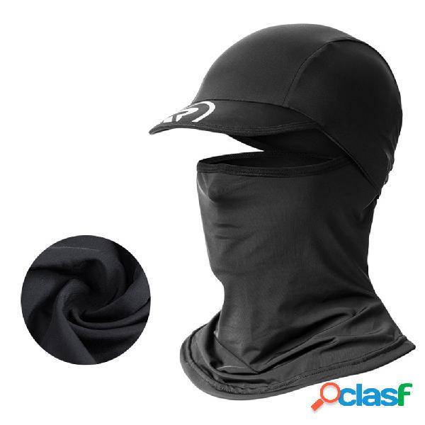 Protetor solar rosto cheio verão seda gelo bonés masculino ao ar livre bib motocicleta equitação pesca chapéu boné de beisebol