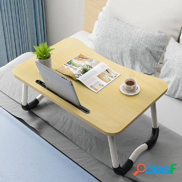 Ajustável em pé mesa de escritório cama pequena mesa dobrável mesa preguiçosa simples mesa quarto laptop mesa assento