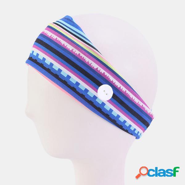 Faixa elástica absorvente de suor de esportes ao ar livre unisex yoga faixa de cabelo