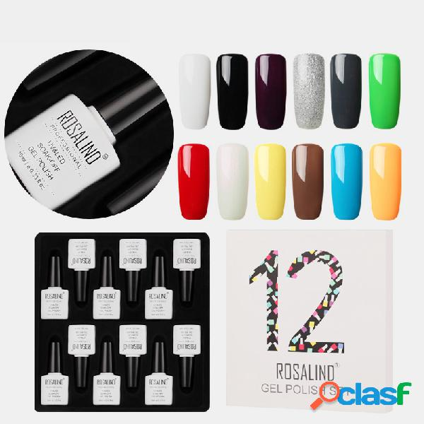 Kit polonês 12 color gel unhas uv led gel de base superior semi-permanente para fototerapia