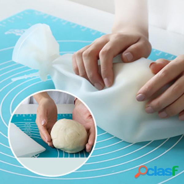 Mão multifuncional doméstica antiaderente amassar massa bolsa material comestível silicone