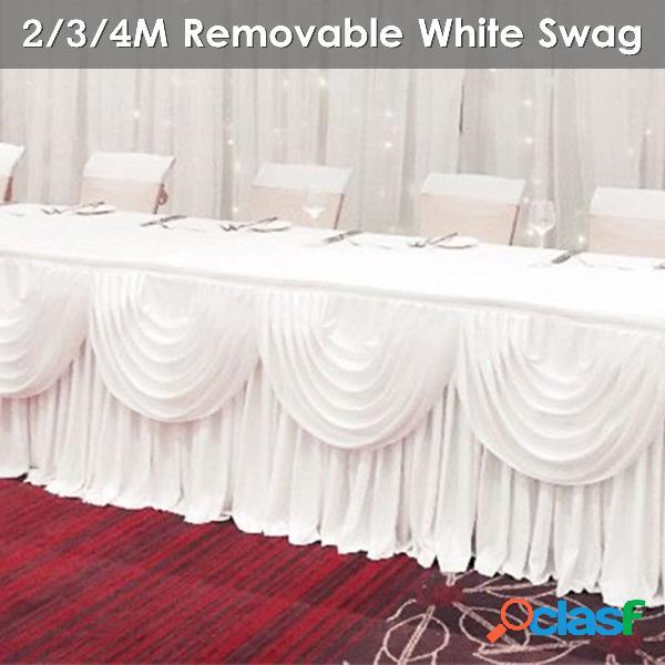 2/3/4 m removível branco decoração de casamento suprimentos casamentos cenário fotografia cortinas - 2 m * 48 cm