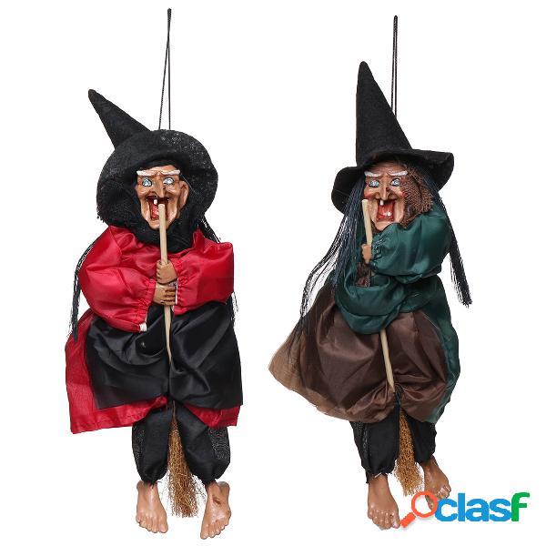Decorações de dia das bruxas adereços de bruxa olhos brilhantes rindo fontes de festa de controle de som