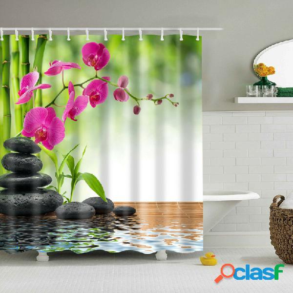 180 * 180 cm cortina de chuveiro 3 pcs tapete tapete de banho conjunto moderno design para banheiro