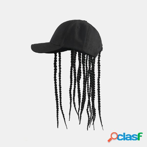 Unissex sujo chapéu personalidade rap de rua hip hop chapéu sujo peruca boné de beisebol