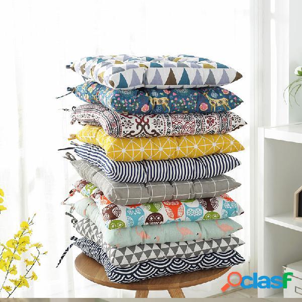 40x40cm engrossar linho algodão tatami beleza almofada para quadris almofada do assento traseiro para escritório almofada para cadeira almofada