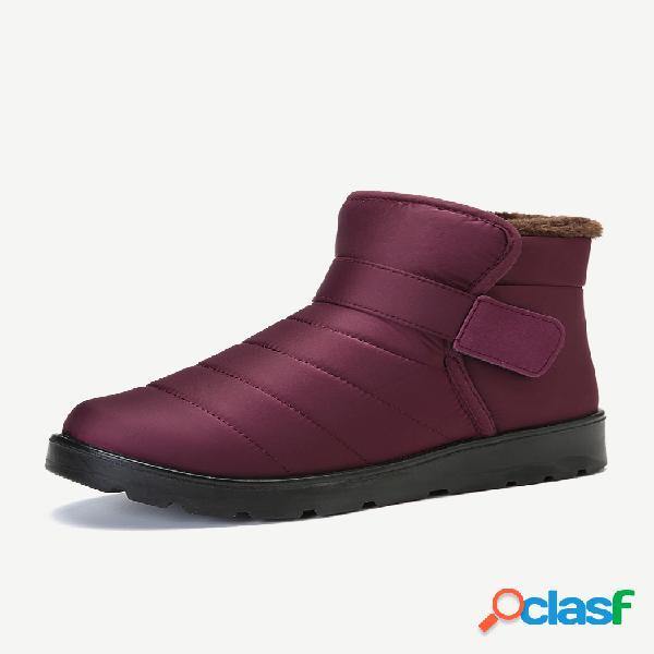 Botas impermeáveis leves e confortáveis com forro de pele quente no tornozelo