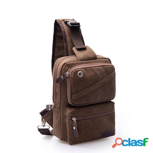 Caixa grande capacidade bolsa multi funcional canvas crossbody bolsa estilingue bolsa para homens