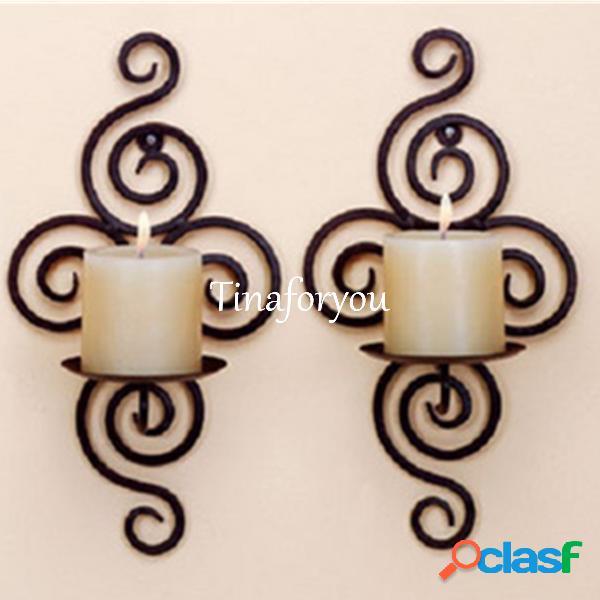 Wall hanging sconce candle holder artigos de decoração handmade